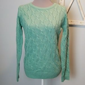 Forever 21 seafoam green sweater SMall